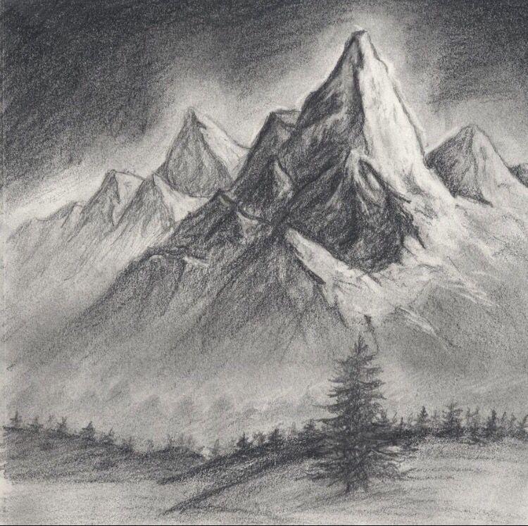 Pin De Krishna Saram En Ilustraciones Carboncillo Paisaje Paisaje A Lapiz Boceto De Paisaje