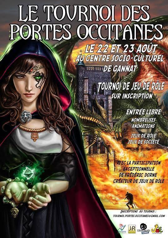 Nous organisons un tournoi de jeu de rôle le 22 et 23 août au centre socio-culturel de Gannat...petite ville frontalière entre l'Allier et le Puy de Dôme. Même si c'est notre première édition et que cela tombe en même temps que le RPGers, nous avons quelques...