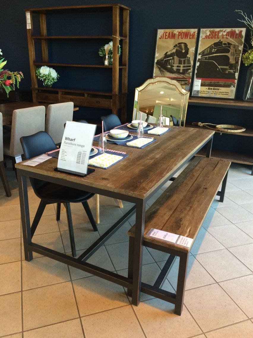 wharf 180x90cm dining table | freedom furniture, dining furniture