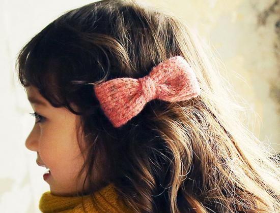 0d3c77b9f7286 Bonne リボンヘアクリップ(ピンク アイボリー レッド) - 韓国子供服 通販 リズハピネス