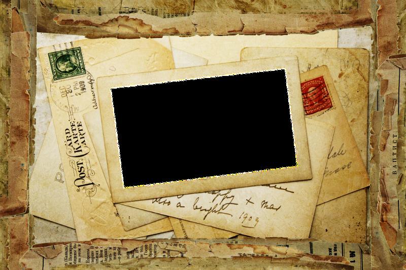 Vintage Letter Collage Frame ~ Zibi Vintage Scrap | scrapbooking ...