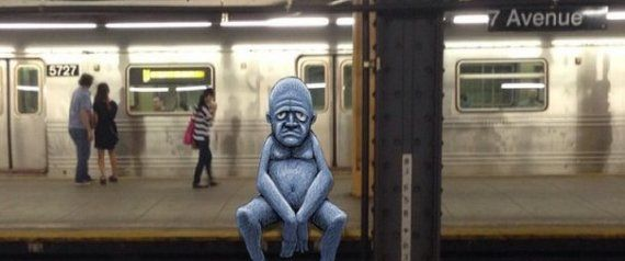 Artist's Bizarre Subway Doodles Transform New York City Into A Fantastically Weird Place