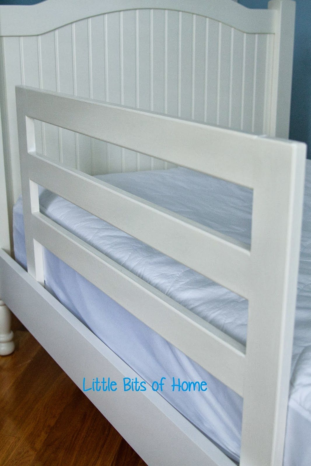 little bits of home pottery barn knock off bed rails. Black Bedroom Furniture Sets. Home Design Ideas