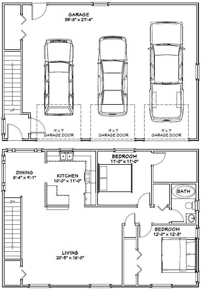 40x28 3 Car Garage 40x28g10f 1 136 Sq Ft Excellent Floor