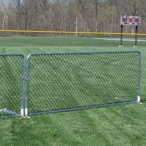 Chain Link Porta Fence These 4 H X 10 W Portable Fence Panels Are A Great Alternative To Plastic Fence P Garden Fence Panels Fence Landscaping Backyard Fences