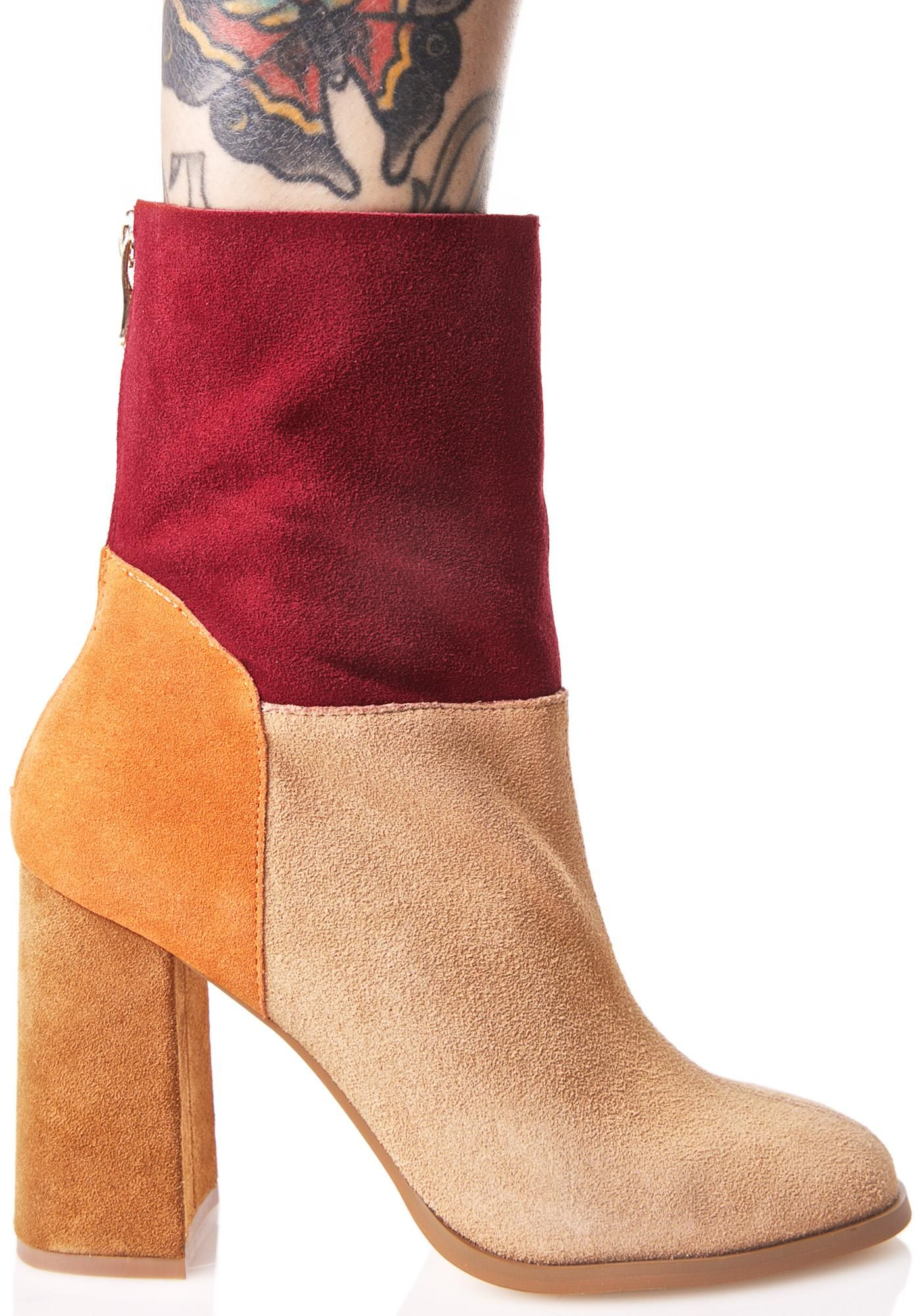 Rumba Suede Boots Boots Suede Boots Block Heel Boots