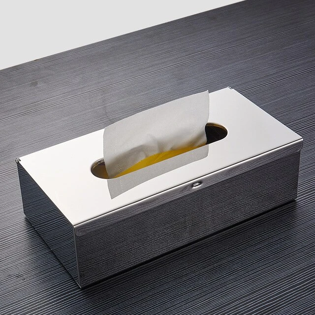 Gold Toilet Paper Holder Box Wall Mounted Gold Black Silver Napkin