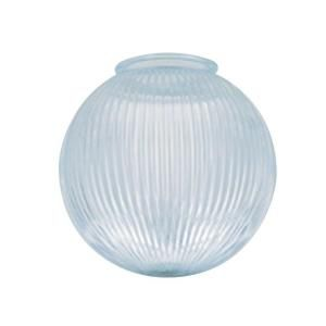 Westinghouse 8 In Clear Prismatic Globe With 4 In Fitter 8133800 The Home Depot Globe Ceiling Light Glass Globe Replacement Glass Shades
