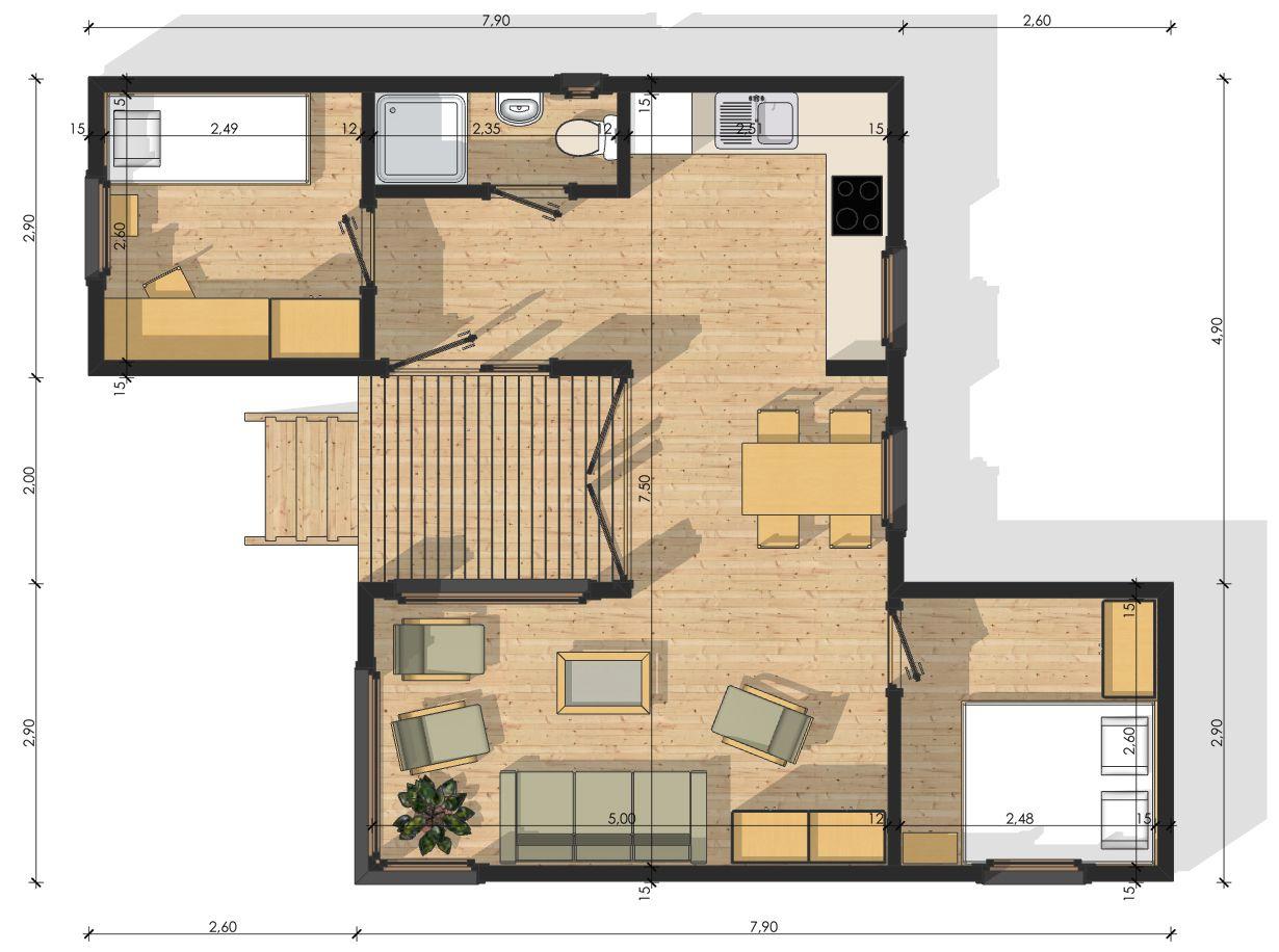 Habitats modulaires plans int rieurs pinterest - Plan de maison modulaire ...