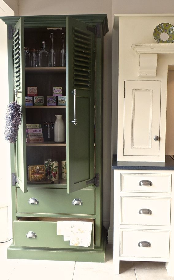 Love this practical free standing kitchen pantry cupboard for Antique free standing kitchen cabinets