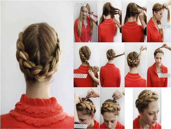 Surprising How To Braid Halo And Braids On Pinterest Short Hairstyles For Black Women Fulllsitofus