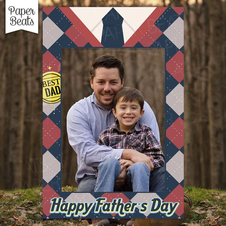 happy fathers day photo booth best dad photo booth frame best