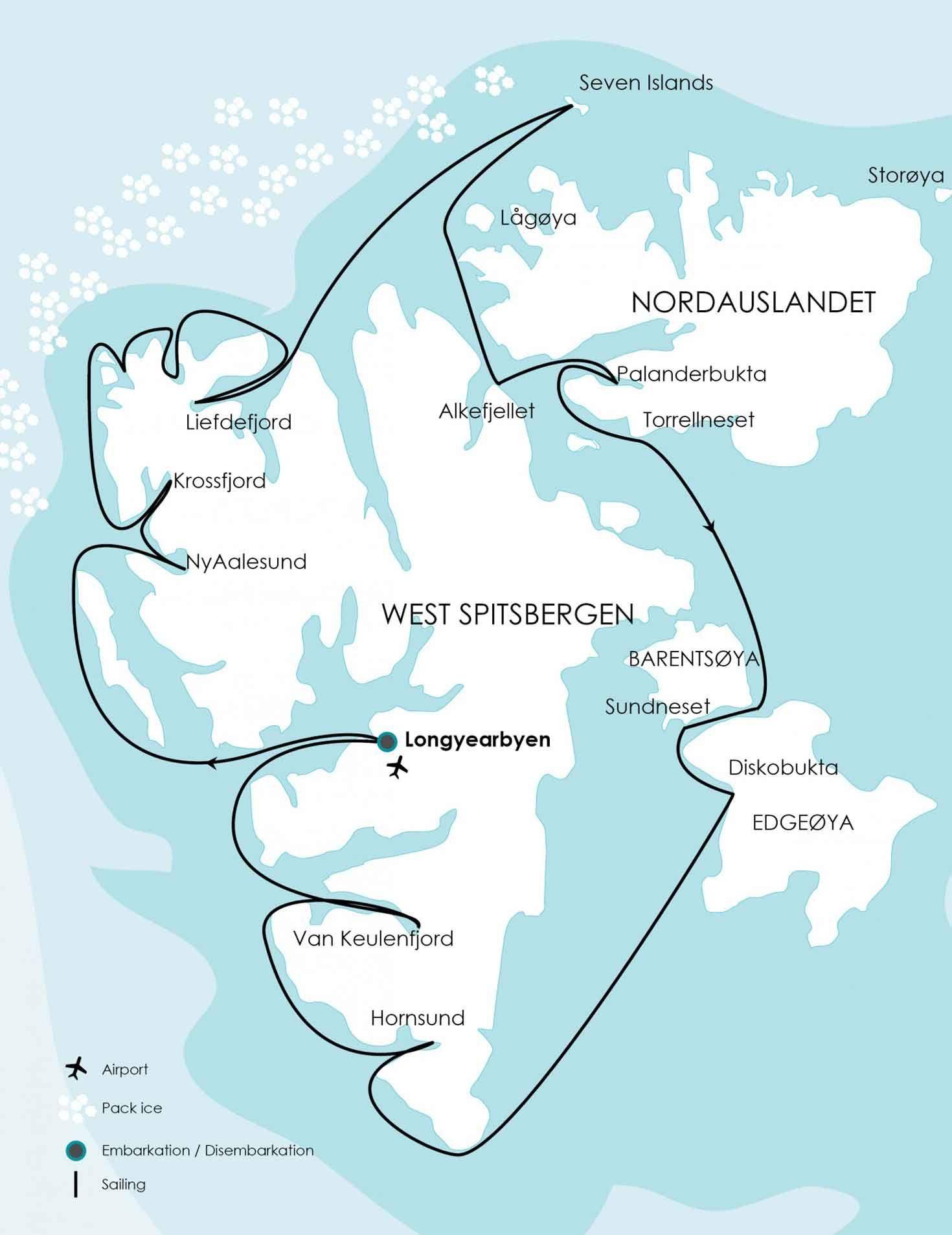 routespitsbergenaroundjpg 14701907 Project Svalbard