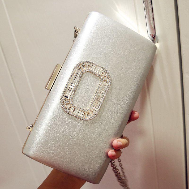 Luxury Brand Designer Women Evening Party Bags PU Leather Day Clutches Handbag Ladies Small Box Chain Messenger Valentine Bolsas