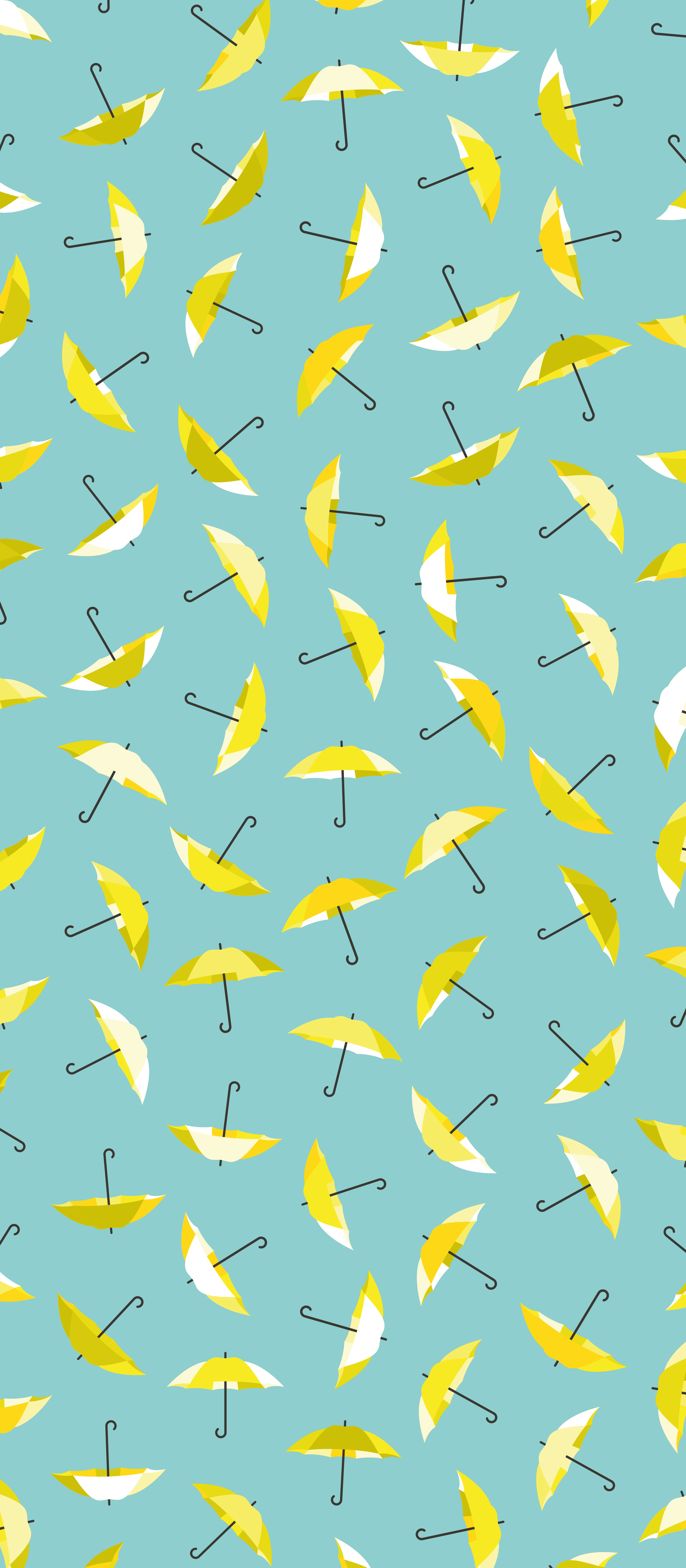 Yellow Umbrella Repeating Pattern Design Inspired By How I Met