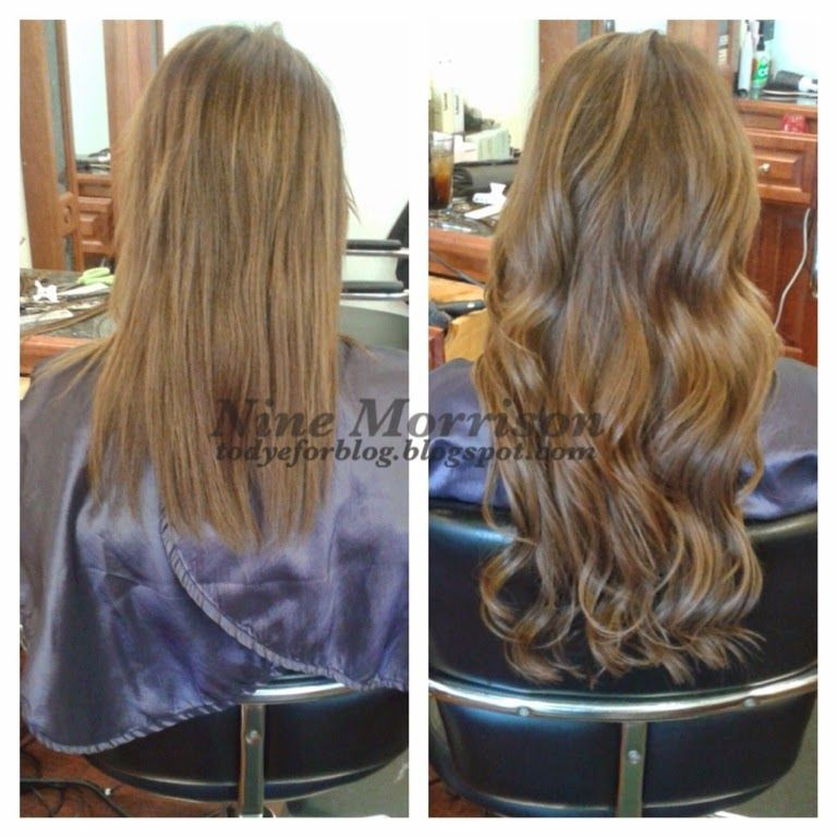 Before After Keratin Hair Extensions Hot Fusion