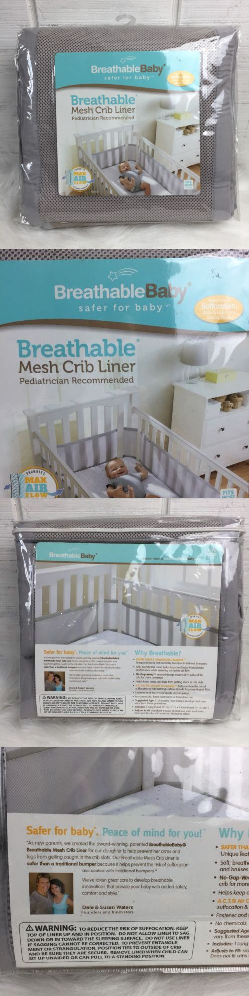 Ftmomsaga Crib Guards Breathablebaby Crib Liners Safe Cribs