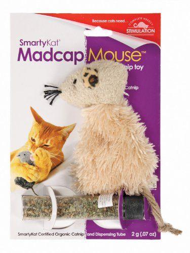 Smartykat Madcap Mouse Cat Toy Refillable Catnip Toy Smartykat