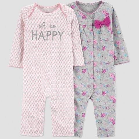 b7cb4bb553 Just One You made by Carters Baby Girls  2pk Happy Jumpsuit - Coral   babygirl