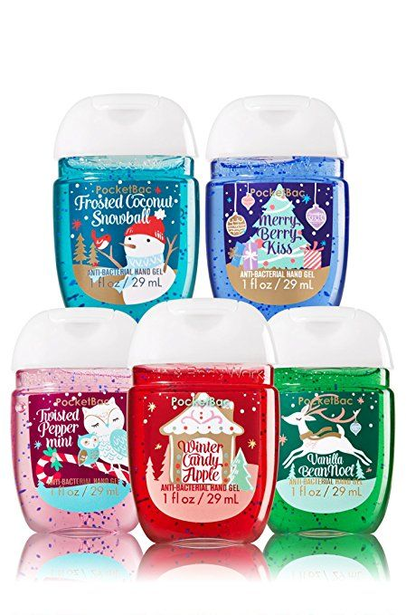 Bath Body Works 5 Pack Pocketbac Holiday Traditions Bundle Hand