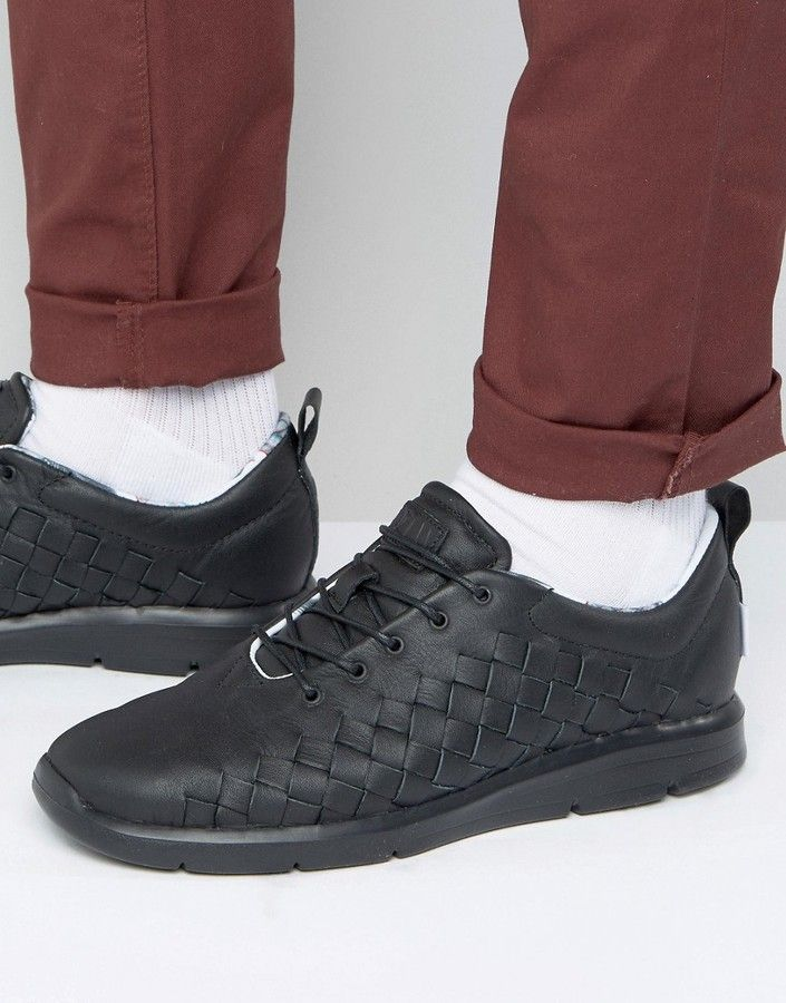 6bdfa64fe8 Vans Tesella Woven Sneakers Black