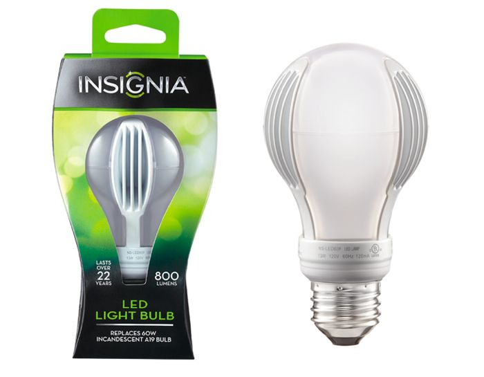 Available At Best Buy Insignia Led Bulbs Last More Than 22 Years Calculated On An Average Of 3 Hours Per Day And Measure 3000 K W Led Bulb Light Bulb Bulb