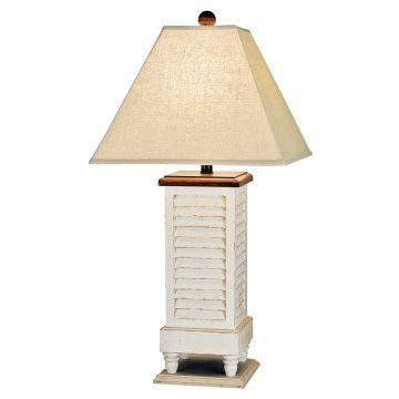 Antique white shutter table lamp and the livin is easy antique white shutter table lamp aloadofball Choice Image