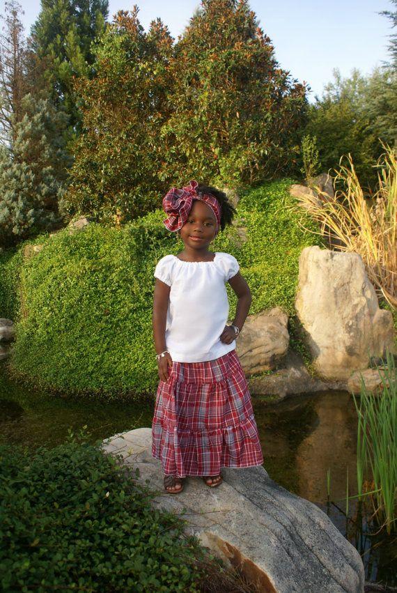 Jamaican Bandana Outfit Traditional Jamaican Skirt Sash