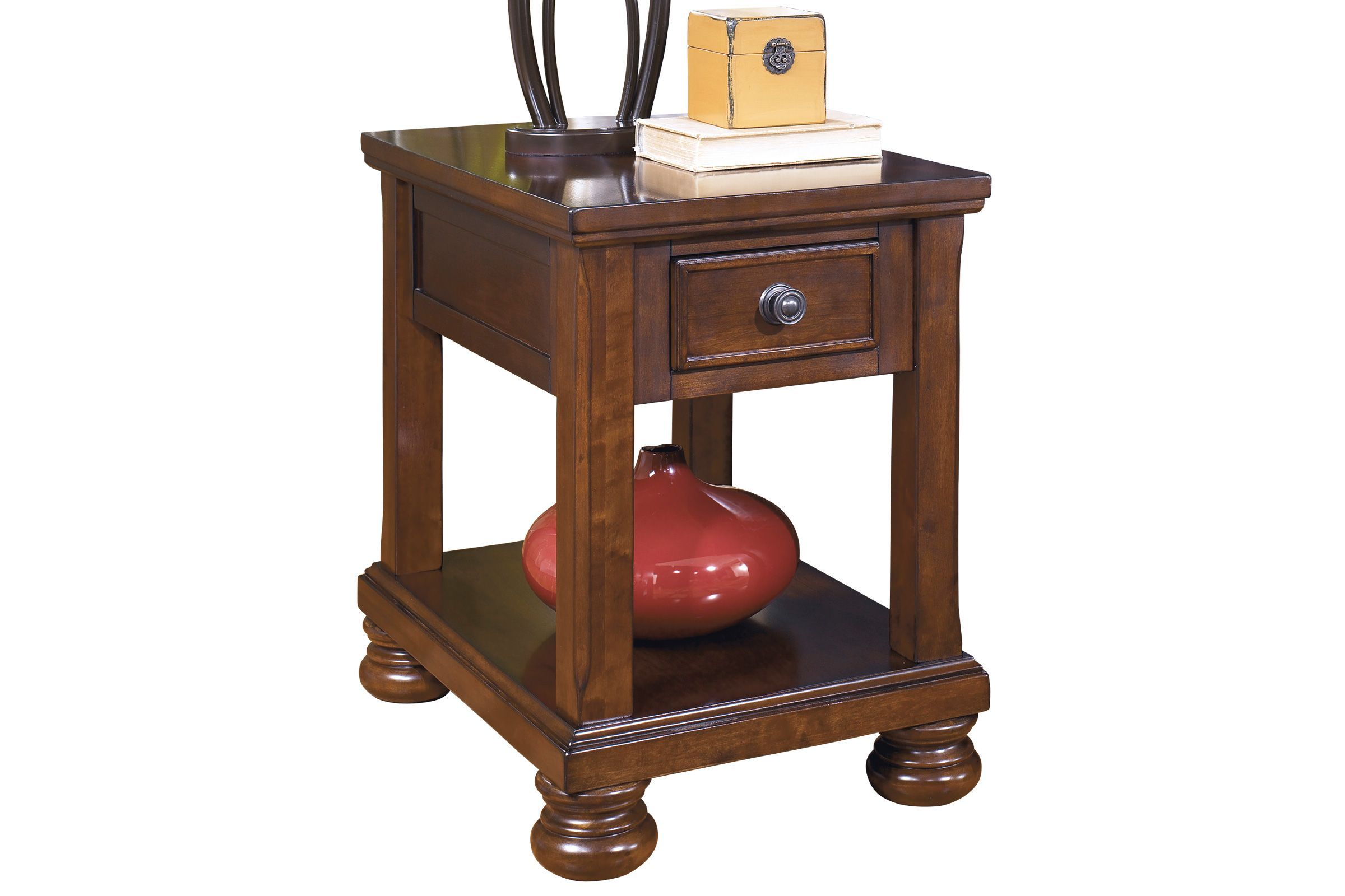 Porter Chair Side End Table In Rustic Brown By Ashley In 2020