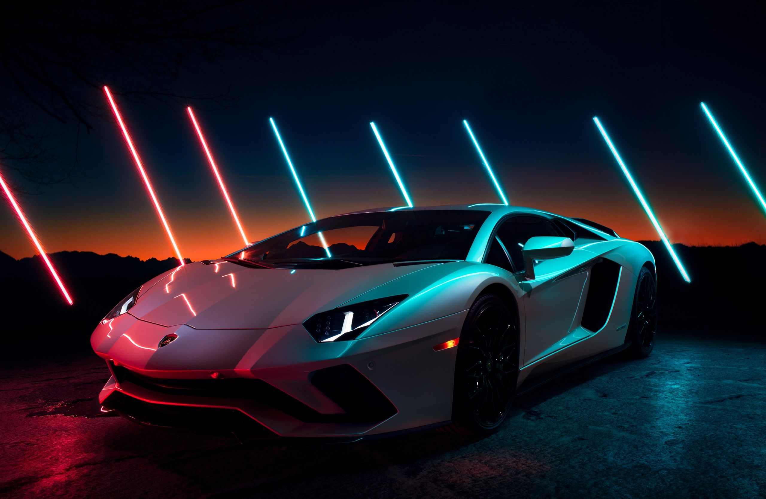 Lamborghini Aventador S Tillman Light Drawing Luxury Cars Lamborghini Aventador Wallpaper Neon Car