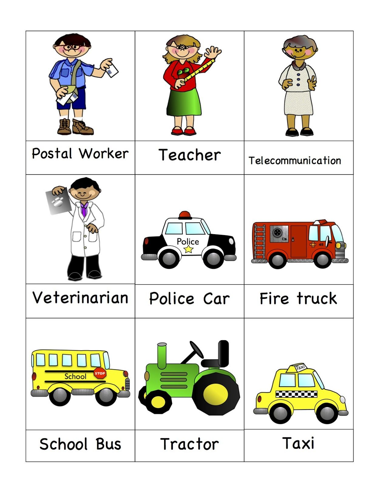 Preschool Printables Helpers In The Community Printable