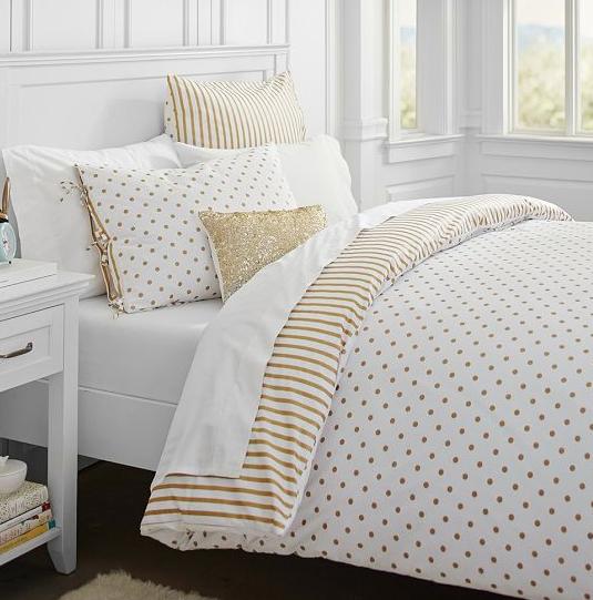 40+ Glam polka dot comforter trends