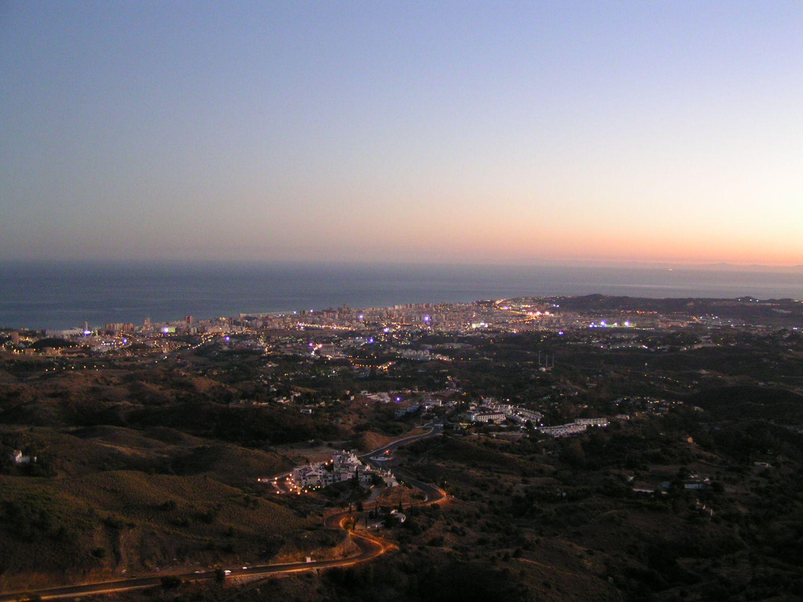 Mijas, Spain overlooking Torremolinos