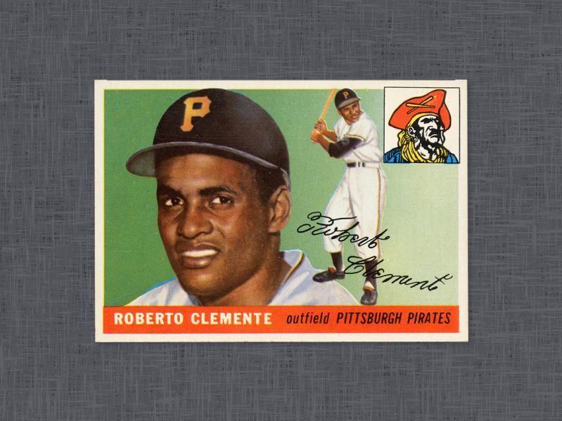 1955 Topps Roberto Clemente Baseball cards, Baseball
