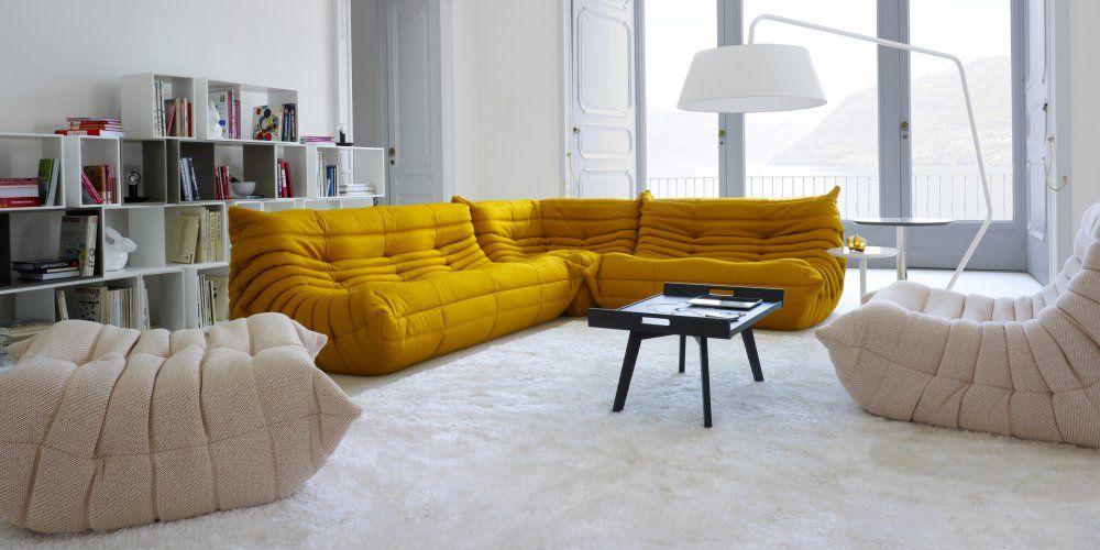 Schön Canapé Moderne Contemporain Jaune Curry Design Ligne Roset Pour Une  Ambiance Très Moderne