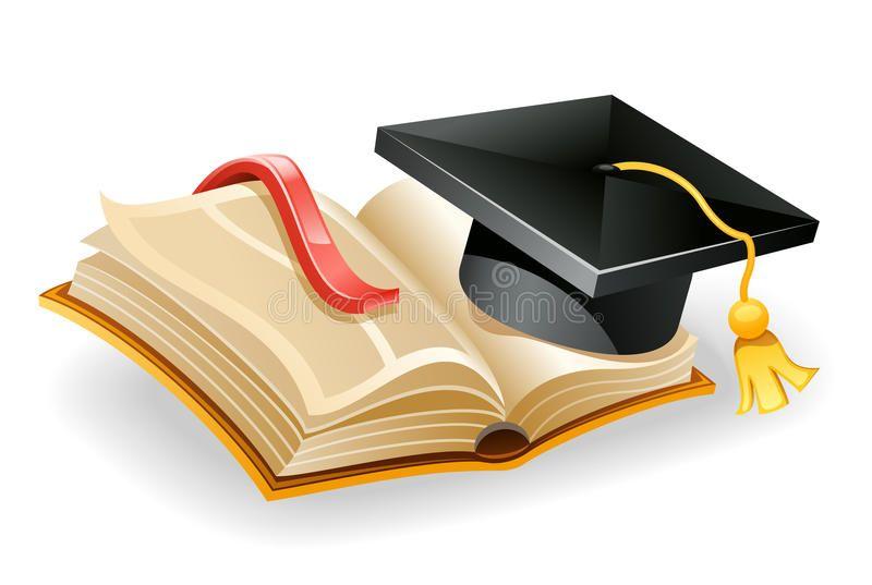 Graduation Cap And Book Vector Illustration Of Graduation Cap And Open Book Vector Illustration Graduation Graduation Silhouette Graduation Cap