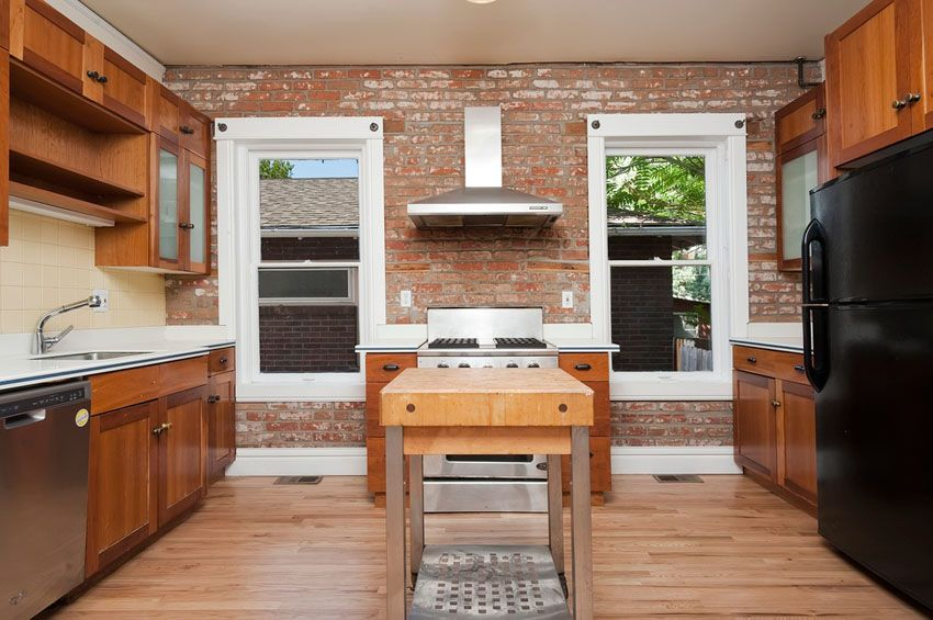 Craftsman Kitchen Design Interesting 47 Brick Kitchen Design Ideas Tile Backsplash & Accent Walls Decorating Design