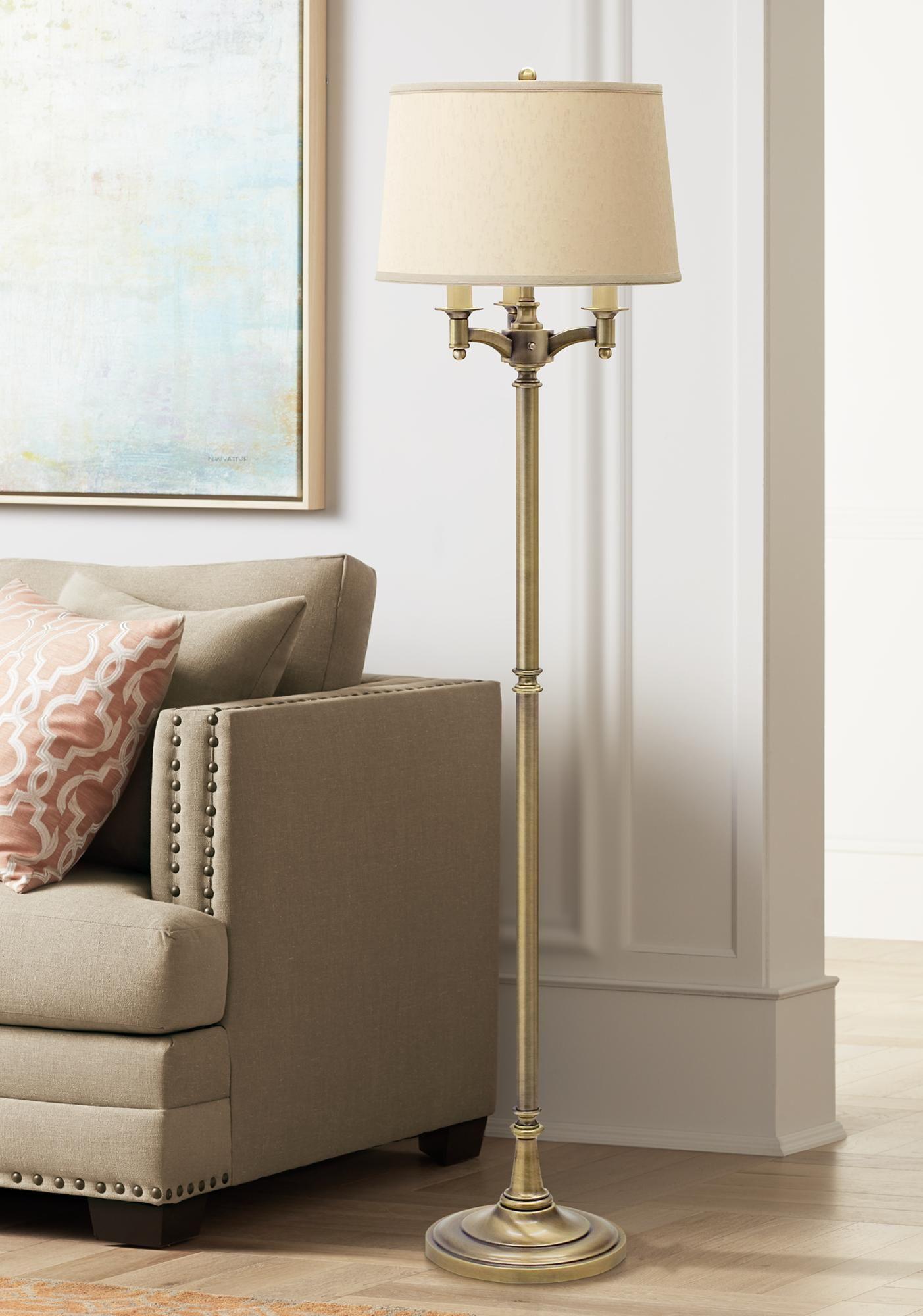 Floor Lamps House Of Troy Lancaster 6 Way Antique Brass Floor Lamp In 2020 House Of Troy Brass Floor Lamp Floor Lamp