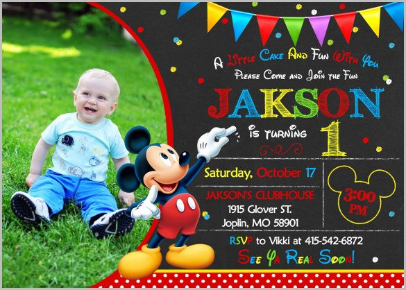 Mickey Mouse Invitation Template 23 Free Psd Vector Eps
