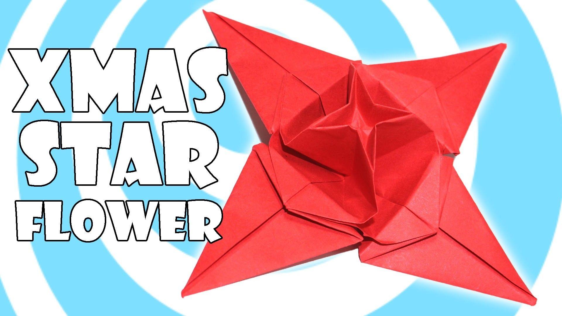 Diy Origami Christmas Star Flower Tutorial Origamite Pinterest