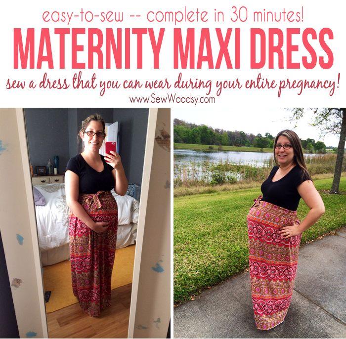 easy to sew Maternity Maxi Dress   Favorite Pins   Pinterest   Nähen