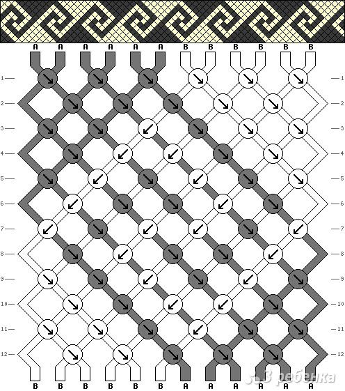 friendship bracelet pattern that i love and want to learn