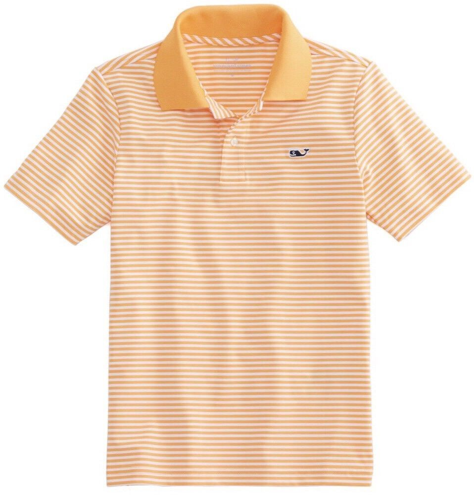 24940bd18935 Vineyard Vines Boys Size Large Planter Stripe Performance Golf Polo Shirt
