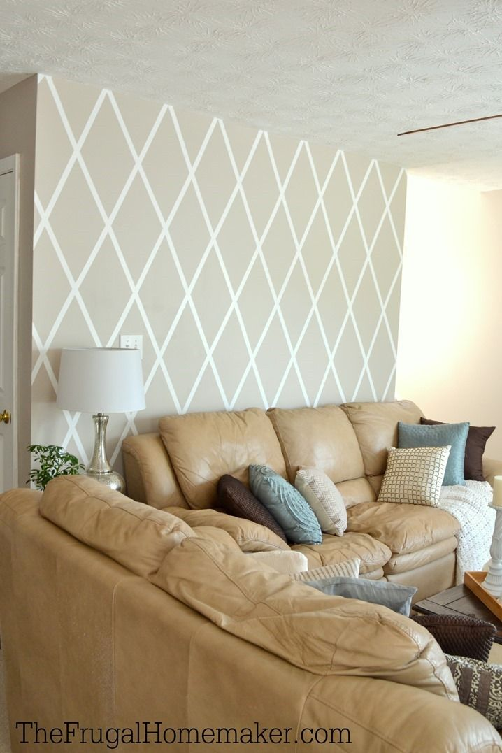 How to paint a Diamond Accent Wall with ScotchBlue tape ...