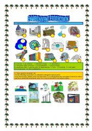 english teaching worksheets environment and nature spanish environment teaching english. Black Bedroom Furniture Sets. Home Design Ideas