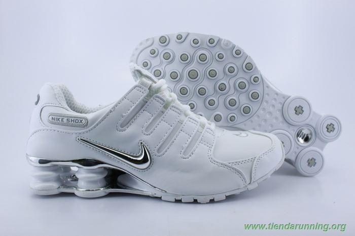 the best attitude 13191 32954 Nike Shox NZ Blanco Plata NZ-005 Hombre-Mujeres tienda zapatillas running