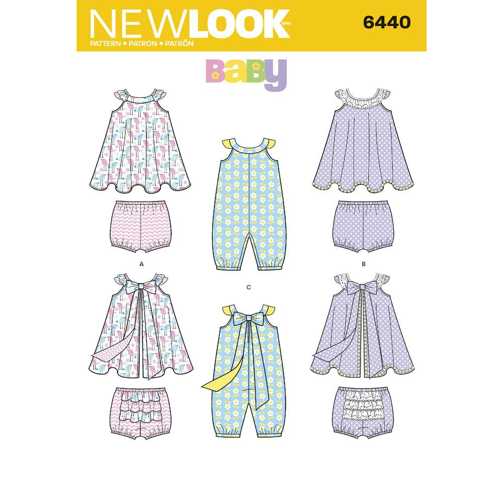 Pattern 6440 Babies\' Romper and Sundress with Panties | Simplicity ...