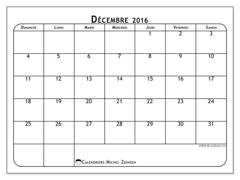 Gratuit ! Calendriers pour décembre 2016 à imprimer Projets à - daily calendar printable