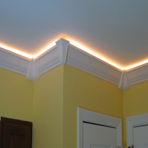Rope Lights In The Crown Moulding
