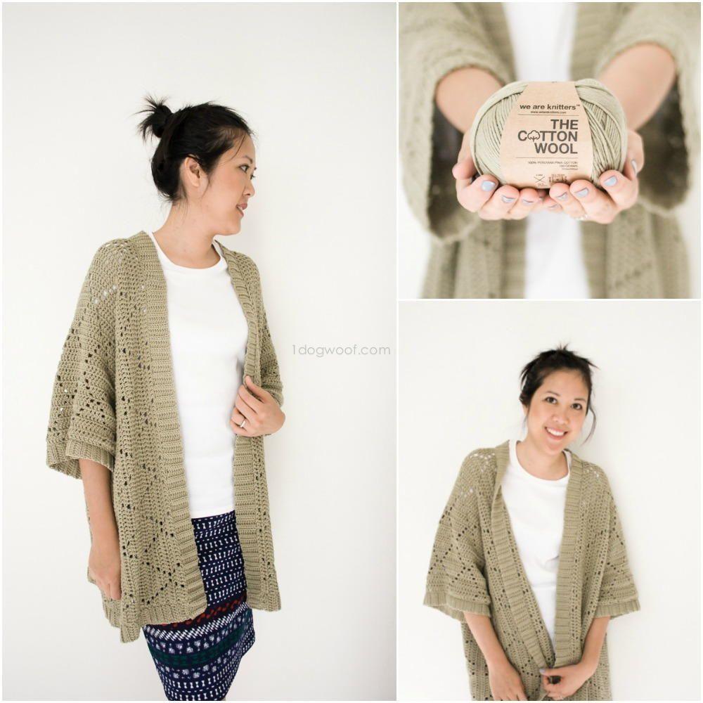 Summer Diamonds Kimono Cardigan | Kimonos, Crochet and Yarns